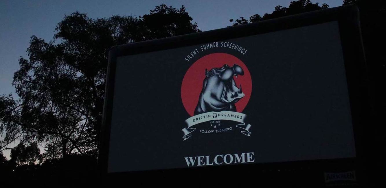 Silent Summer Screenings Open Air Cinema Screen Welcome
